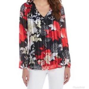 The Limited | Scarlet Blossom Floral Blouse XL NWT